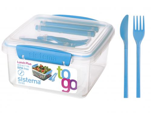 SISTEMA Set 4 door dining polypropylene to go with cutlery Food