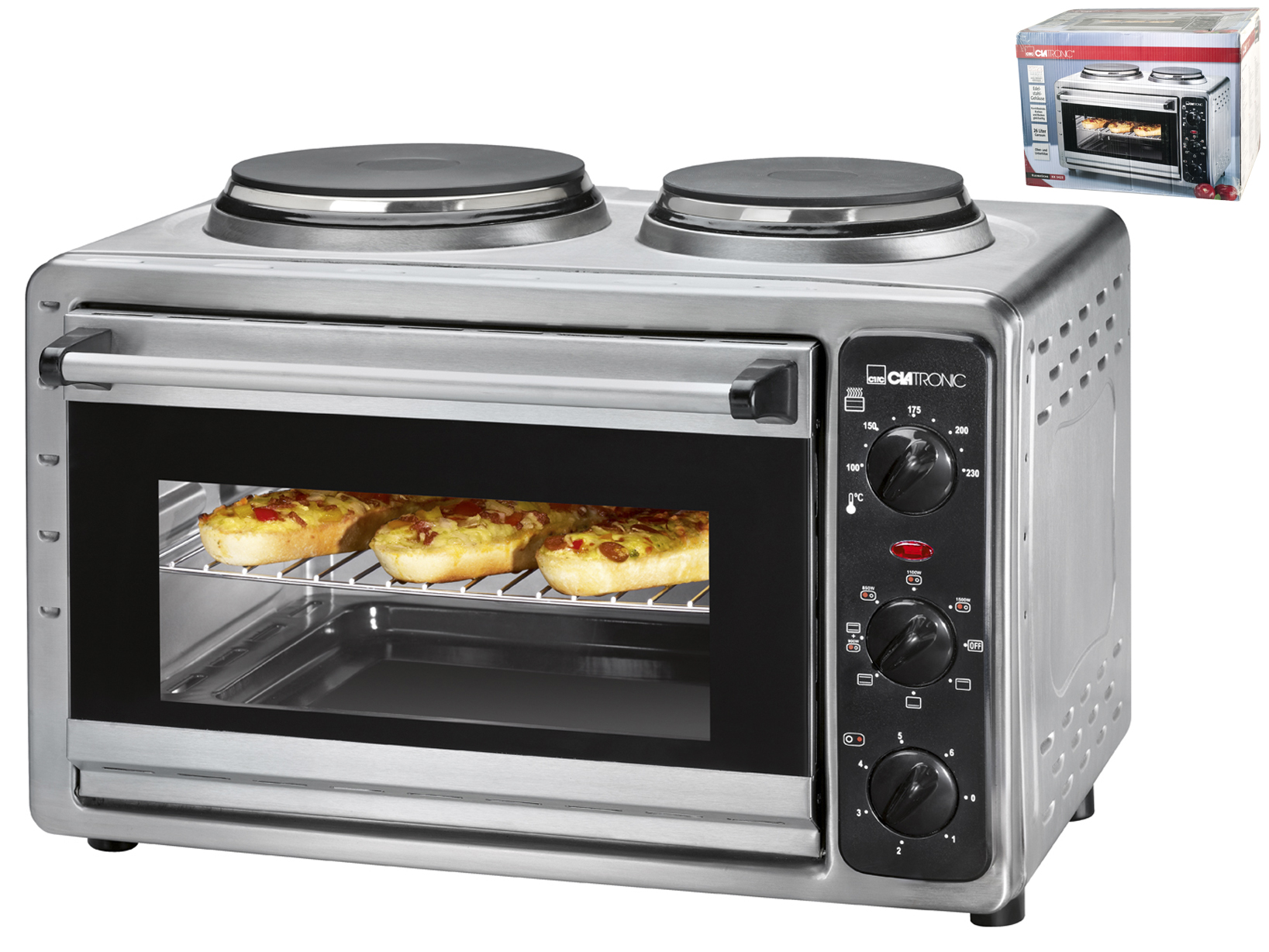 Small Kitchen Ovens ~ Proficook electric oven l w and plates small