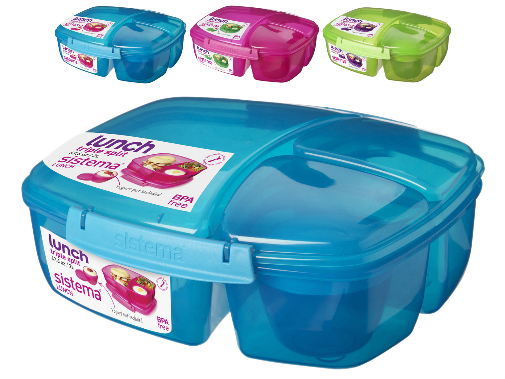 Image Is Loading SISTEMA Set 6 Porta Polypropylene Lunch Container With