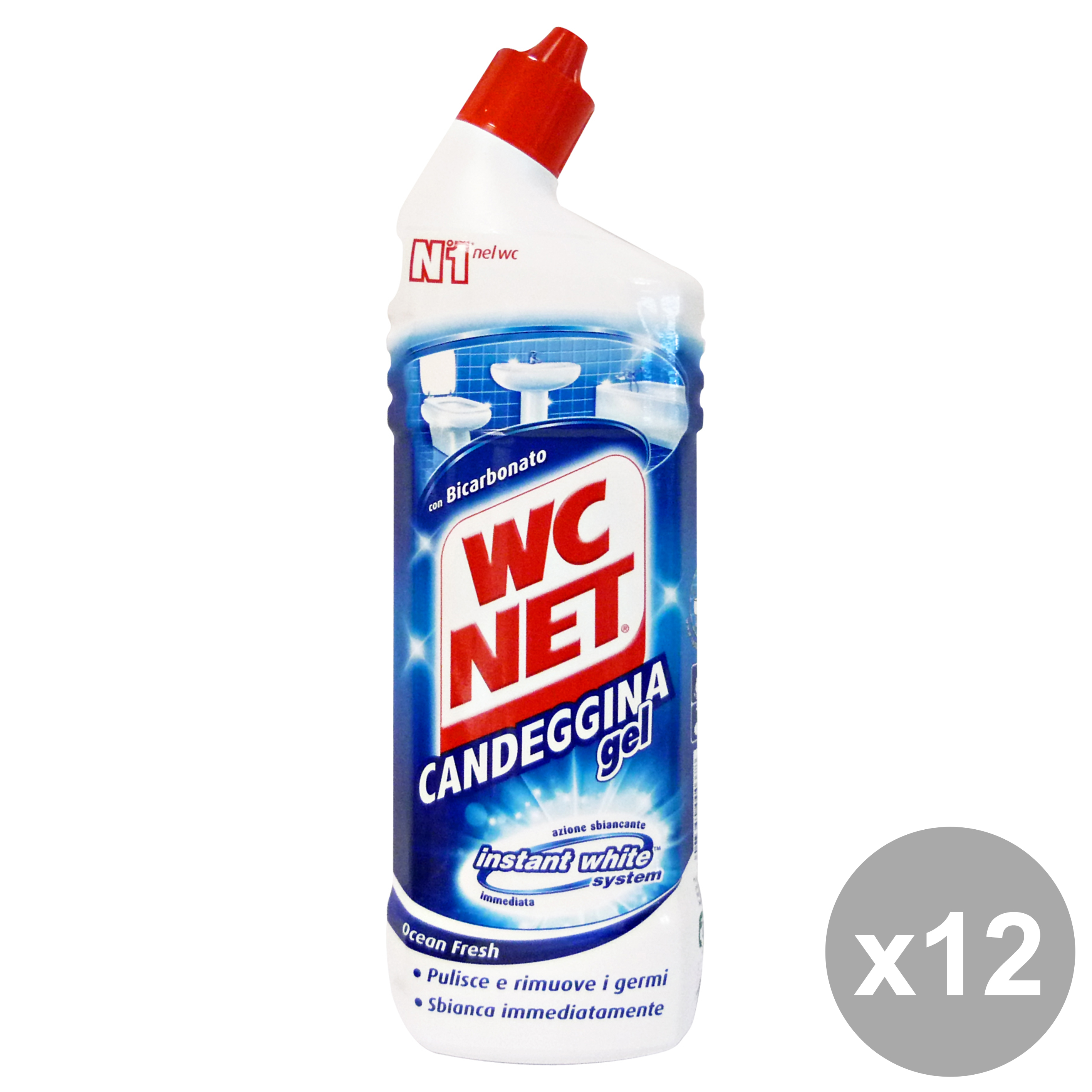 WC NET Set 12 Candeggina Gel 700 Ml. Detergenti Casa
