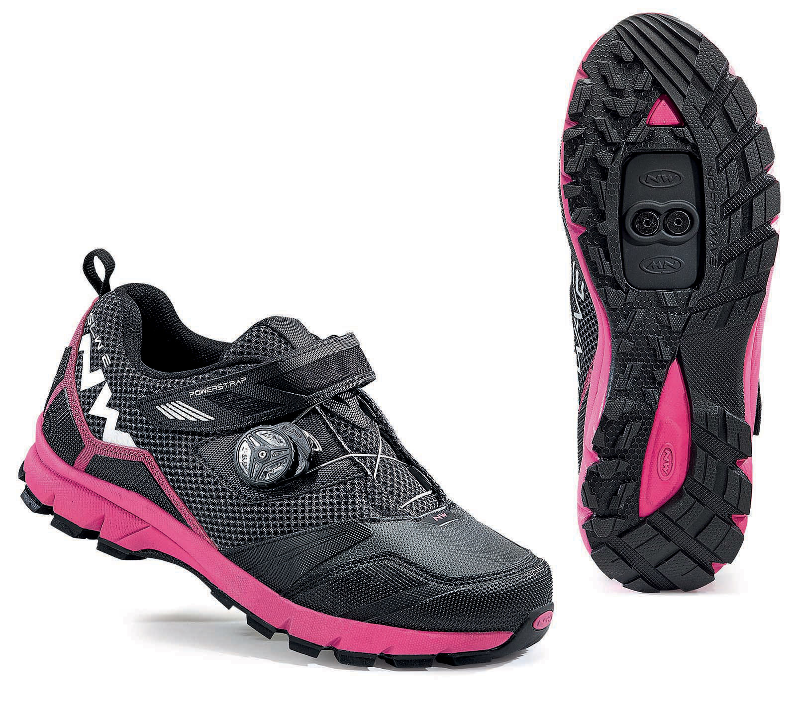 NORTHWAVE Scarpe MTB freeride donna MISSION PLUS WMN nero/fucsia