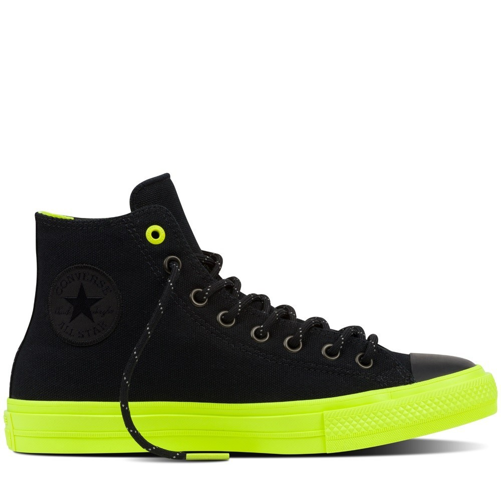Ii Star Shield Converse Nero Canvas Chuck Scarpe All Verde qSwFxPFB